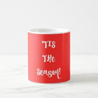 Minimal Typography Christmas Mug