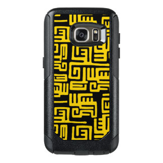 Minimal Yellow Black African Tribal Pattern OtterBox Samsung Galaxy S7 Case