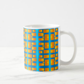 Minimalism Abstract Aqua and Bright Orange Coffee Mug