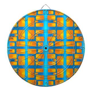 Minimalism Abstract Aqua and Bright Orange Dartboard