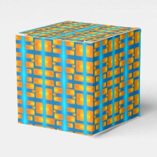 Minimalism Abstract Aqua and Bright Orange Favor Box