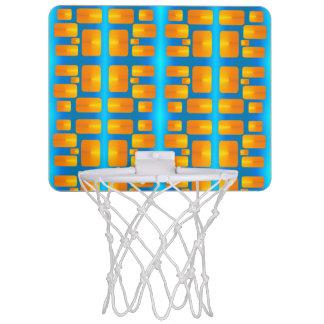 Minimalism Abstract Aqua and Bright Orange Mini Basketball Hoop
