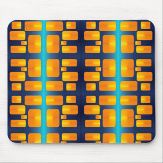 Minimalism Abstract Aqua and Bright Orange Mouse Pad