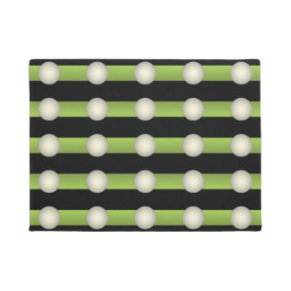 Minimalism Avant-Garde Lime Green and Indigo - Doormat