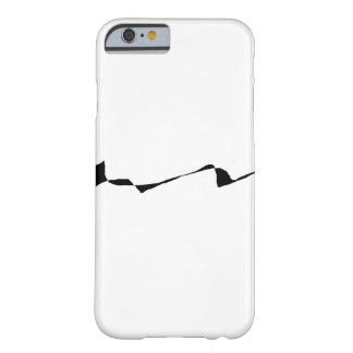Minimalism - Black and White Barely There iPhone 6 Case