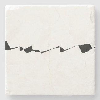 Minimalism - Black and White Stone Coaster