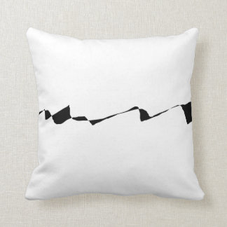 Minimalism - Black and White Throw Pillow