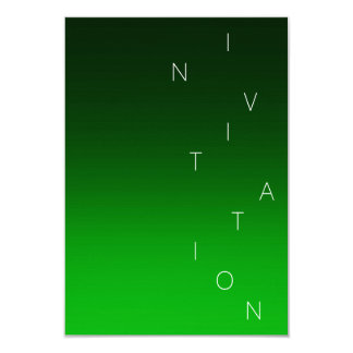Minimalism Fashion Event Glam Emerald Green Ombre Card