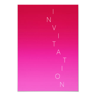 Minimalism Fashion Event Glam Pink Red Ombre Card