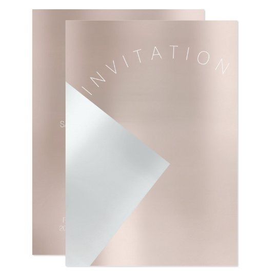 Minimalism Fashion Event Metal Blush Rose Pink Card