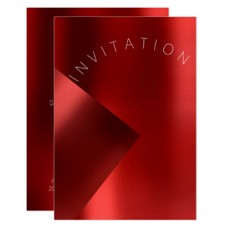 Minimalism Fashion Event Metal Red Ruby Monochrom Card