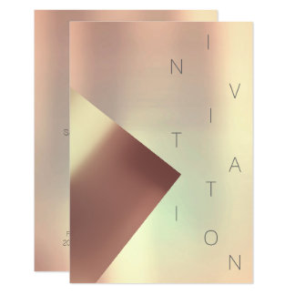 Minimalism Fashion Event Rose Gold Metallic Copper Card