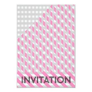Minimalism Geometric Party Stripes Gray Pink Card