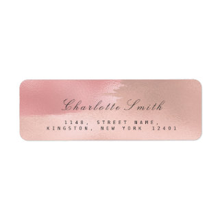 Minimalism Makeup Strokes Return Address Labels