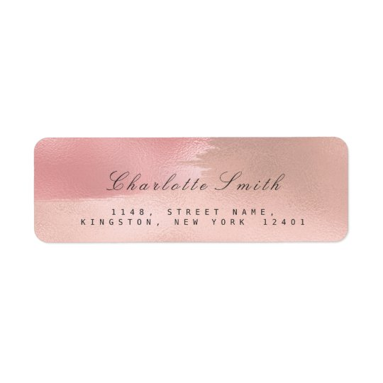 Minimalism Makeup Strokes Return Address Labels