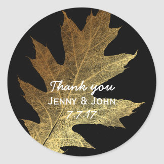 Minimalism Mint Gold Wedding Thank you Round Sticker