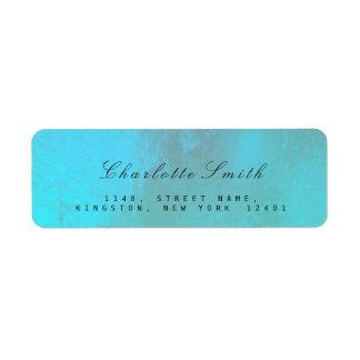 Minimalism Ocean Blue Foil Return Address Labels