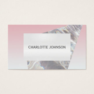 Minimalism Pink Gray Cristal Business Card