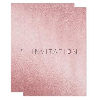 Minimalism Pink Rose Gold Gray Powder Card