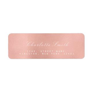 Minimalism Pink Rose Gold  Return Address Labels