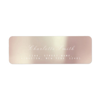 Minimalism Pink Rose Pearly  Return Address Labels