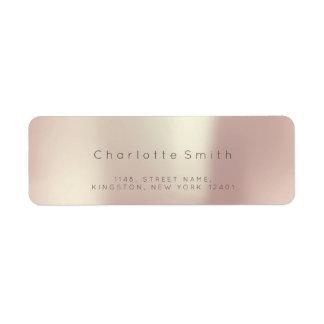 Minimalism Pink Rose Pearly RSVP Gray Metallic