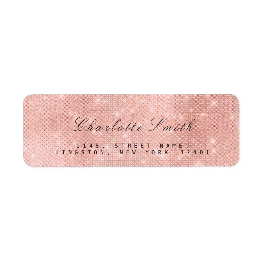 Minimalism Pink Rose Shimmer Return Address Labels