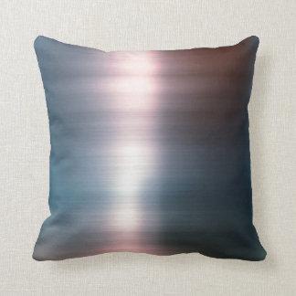 Minimalism Pink Silver Gray Metallic Ombre Pillow