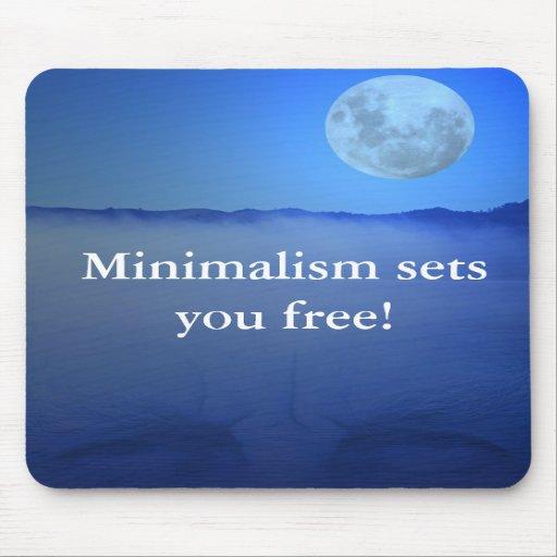Minimalism sets you free! mousepad