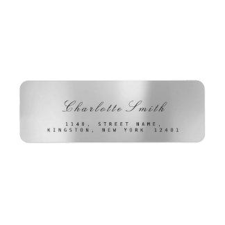 Minimalism Silver Gray Foil Return Address Labels