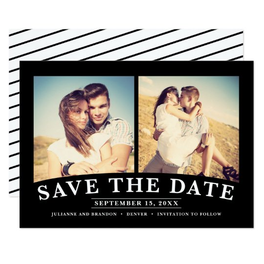 Minimalist 2-Photo Save the Date Card