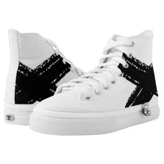 Minimalist abstract black brush stroke shoes