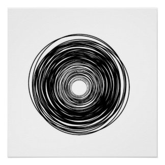 Minimalist Abstract Circle poster Perfect Poster