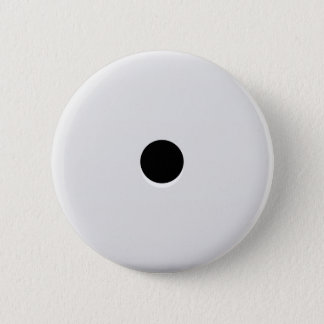 Minimalist Abstract Single Dice Pip 2 Inch Round Button