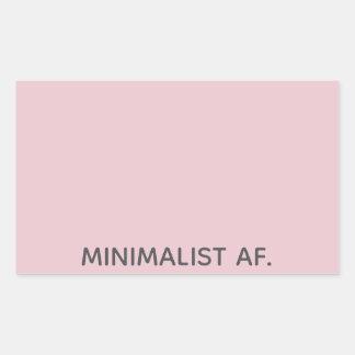 Minimalist AF Sticker