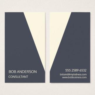 Minimalist Angled Consultant Trendy Tux Indigo Business Card
