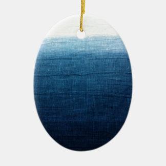 Minimalist Approach 2 Indigo Ceramic Ornament