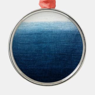 Minimalist Approach 2 Indigo Metal Ornament