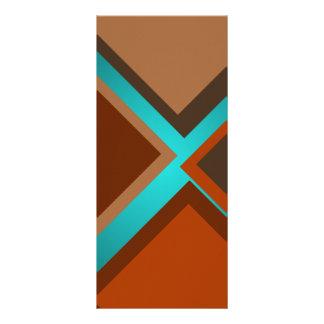 Minimalist Art Fashion Turquoise Autumn Colors 3 Rack Card