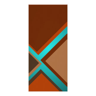 Minimalist Art Fashion Turquoise Autumn Colors 4 Customized Rack Card
