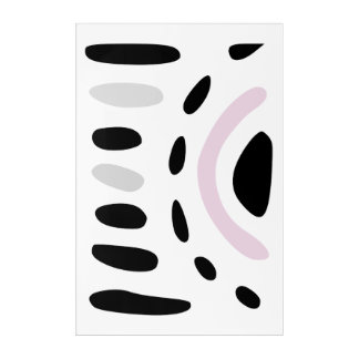 Minimalist art in pink and grey large wall art