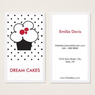 Minimalist Baker Bakery Cupcake Business Card
