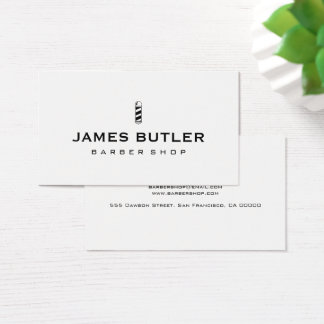Minimalist Barber Shop Business Card