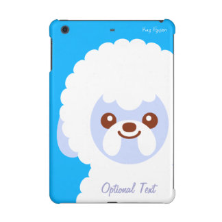 Minimalist Bichon Frise Kawaii Dog Cartoon iPad Mini Cover
