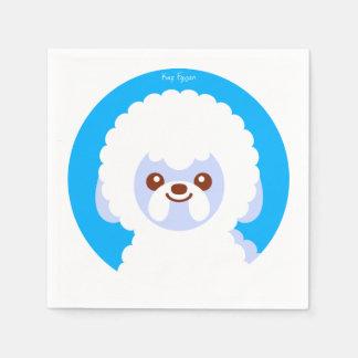 Minimalist Bichon Frise Kawaii Dog Cartoon Paper Napkin