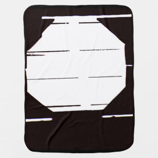 Minimalist Black and White Baby Blanket