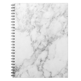 Minimalist Black and White Marble Notebook