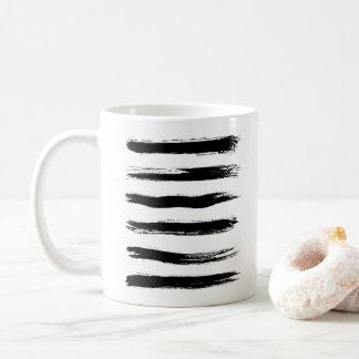 Minimalist Black & White Brush Strokes Coffee Mug