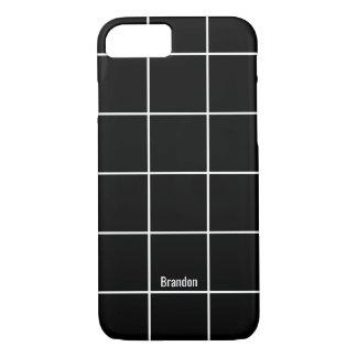 Minimalist Black & White Custom Name iPhone Case