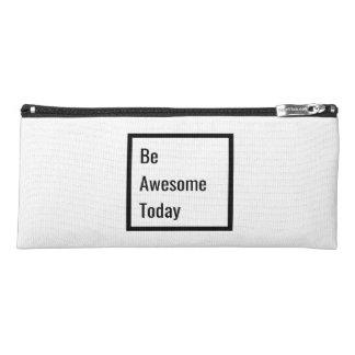 Minimalist Black & White Motivational Pencil Case